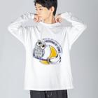 *suzuriDeMonyaa.tag*のCT71 夜の誘惑 HORNED OWL_A Big silhouette long sleeve T-shirts