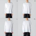 28番商店街の力自慢 Big silhouette long sleeve T-shirtsの男性着用イメージ