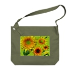 flower & Plants Edenのヒマワリ-003 Big shoulder bags