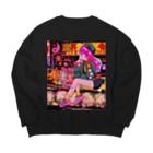 寅丑商會・件 紋次郎の架空の90年代アニメ Big silhouette sweats