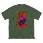 ムラマス カツユキの客(百)足が増える 商売繁盛Ver. Big silhouette T-shirts