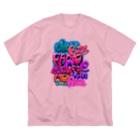 Slow Typingのstreet wall 01 003 Big silhouette T-shirts