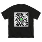 大黒堂ネロのLINE QR Big silhouette T-shirts