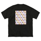 MACHI_no0223のたぶんさかな Big silhouette T-shirts
