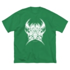 DieodeDesign2021の疫病退散ブルータルロゴ_ビッグT Big T-shirts