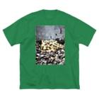 ばにーすぺーのベルツのガエルくん Big silhouette T-shirts