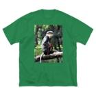 GREEN69のアカアシドゥー師匠 Big silhouette T-shirts