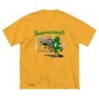 りおたのフリーキック(緑) Big silhouette T-shirts