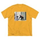 きしの動物園のレッサーパンダ Big silhouette T-shirts
