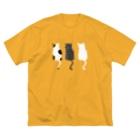 NecoKnickKnackの三匹の猫 Big silhouette T-shirts