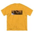 かよこの柔いぎらぎら Big silhouette T-shirts
