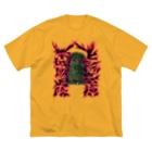 安里アンリの古墳グッズ屋さんのヒシアゲ古墳(平城坂上陵) Big silhouette T-shirts