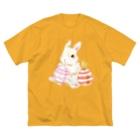しず華*(カラー・リボンボン)のEaster Big silhouette T-shirts