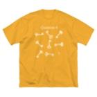 AJU*のQ6(白インク) Big silhouette T-shirts