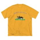 ぎんぺーのしっぽの果報を寝て待っているリカオン Big silhouette T-shirts