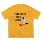 NEZUMIZARU STUDIO SHOPのTAKE ME TO YUOR LEADER Big silhouette T-shirts
