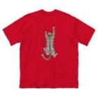 なごの飛び付き猫 Big silhouette T-shirts