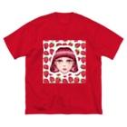 ひらぐりひらりの恋 Big silhouette T-shirts