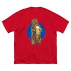 ムラマス カツユキのビア にベア for MEN  Big silhouette T-shirts