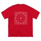 風丸本舗のペイズリーラバーズ Big silhouette T-shirts