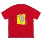 なごのぐっすり猫 Big silhouette T-shirts