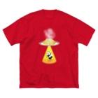 みけにっけのお店のキャトルミューティレーションパンダ Big silhouette T-shirts