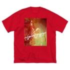 長与 千種 Chigusa Nagayoの長与千種の『赤いイナズマ』 Big silhouette T-shirts