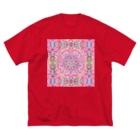 ✨🌈✨RAKKAN✨🌈✨の🌟宇宙の花の曼荼羅cosmos 🌸 Big T-shirts