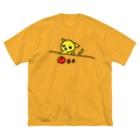 akane_artのフルーツチワワ Big silhouette T-shirts