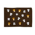 のびネコねこハウスSHOPの【のびネコねこハウス】2019冬コレクション・ねこいっぱい(茶) Blankets