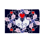 ERIKOERIN ART SHOPの浪漫花-ROMANKA-/ブランケット(ネイビー) Blankets