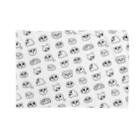 トシゾーのSUZURIのとこのモチゾーパターン(白) Blankets