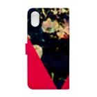NoraUprise-sの▼5-P【逆三角形の穴】 Book-style smartphone caseの裏面