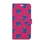 【Brue Rose】errieのBrue Rose ビビッドピンク  Book-style smartphone case