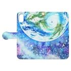 Coffret à bijouxの地球と宇宙のスマートフォンケース Book style smartphone caseを開いた場合(外側)