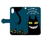 ワカボンドのムーンライトクロネコ Book-style smartphone caseを開いた場合(外側)
