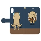 efrinmanのハロー!(ネイビー) Book-style smartphone caseを開いた場合(外側)