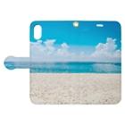 tsuki-hiroのビーチ Book-style smartphone caseを開いた場合(外側)