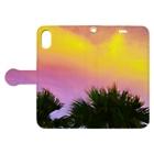 mizuphoto.comの夕焼けとパームツリー Book-style smartphone caseを開いた場合(外側)