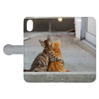 猫写真家 森永健一 Feel So High shopのずっと一緒 Book-style smartphone caseを開いた場合(外側)