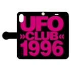 東高円寺U.F.O.CLUB webshopのU.F.O.CLUB 【CAN オマージュver.】 Book-style smartphone caseを開いた場合(外側)