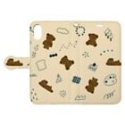 くまのお店🧸のくまちゃんのたからばこ Book-style smartphone caseを開いた場合(外側)