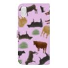 すかまるのおみせの和牛🐃がいっぱい手帳型iPhoneケース Book-style smartphone caseの裏面