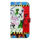 DoiMayumiのPOP ART (RAIN OF PEACE) Book-style smartphone case
