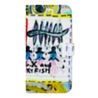 DoiMayumiのPOP ART (Mr.X and Skyfish) Book-style smartphone case