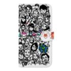 """ラクガキヤぐっず♨︎の""""wall-y""""アイタイヒトタチ Book-style smartphone case"""
