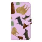 すかまるのおみせの和牛🐃がいっぱい手帳型iPhoneケース Book-style smartphone case