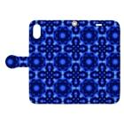 みんく工房のオシャレな基盤のスマホケース(青) 手帳型スマートフォンケース Book-style smartphone caseを開いた場合(外側)