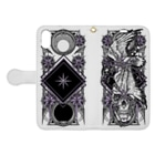 BLACKINK のTAROT - STAR. White Book-style smartphone caseを開いた場合(外側)