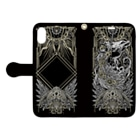 BLACKINK のTAROT - THE SUN. Black Book-style smartphone caseを開いた場合(外側)